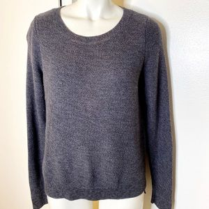 Ann Taylor LOFT Charcoal Grey Scoop Sweater M